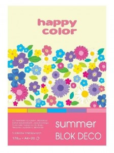 Blok A5/20K Deco Summer 170g HAPPY COLOR