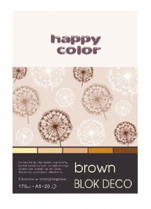 Blok A5/20K Deco Brown 170g HAPPY COLOR