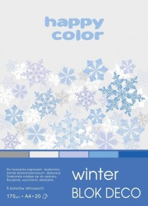 Blok A4/20K Deco Winter 170g HAPPY COLOR