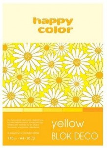 Blok A4/20K Deco Yellow 170g HAPPY COLOR
