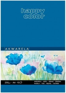 Blok akwarelowy ART A4/10K 250g Happy Color