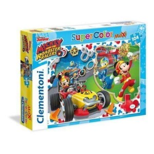 Puzzle 104 Maxi Superkolor Mickey Roadster Rac