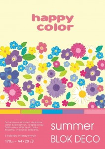 Blok A4/20K Deco Summer 170g HAPPY COLOR