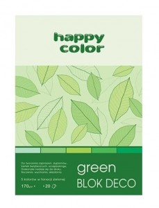 Blok A5/20K Deco Green 170g HAPPY COLOR