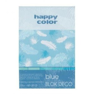 Blok A5/20K Deco Blue 170g HAPPY COLOR