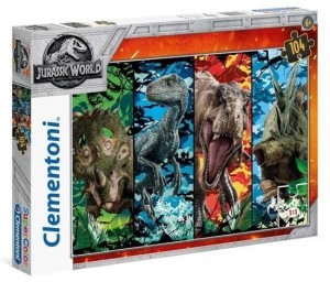 Puzzla 104 Supercolor Jurassic World