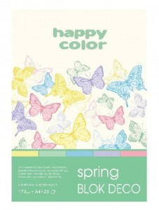 Blok A5/20K Deco Spring 170g HAPPY COLOR
