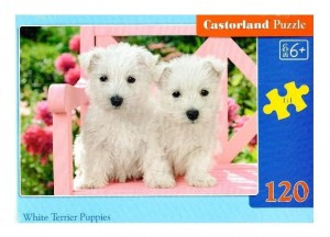 Puzzle 120 White Terrier Puppies CASTOR