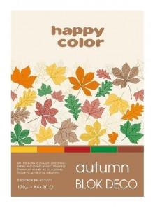 Blok A5/20K Deco Autumn 170g HAPPY COLOR