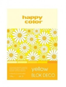 Blok A5/20K Deco Yellow 170g HAPPY COLOR