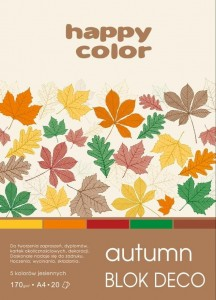 Blok A4/20K Deco Autumn 170g HAPPY COLOR