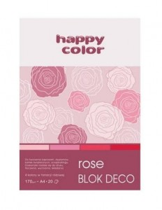 Blok A5/20K Deco Rose 170g HAPPY COLOR