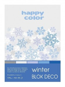 Blok A5/20K Deco Winter 170g HAPPY COLOR