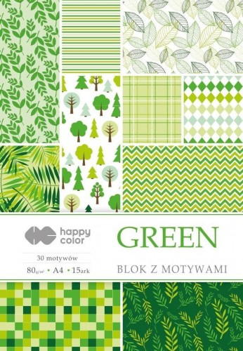 Blok z motywami Green A4/15ark HAPPY COLOR